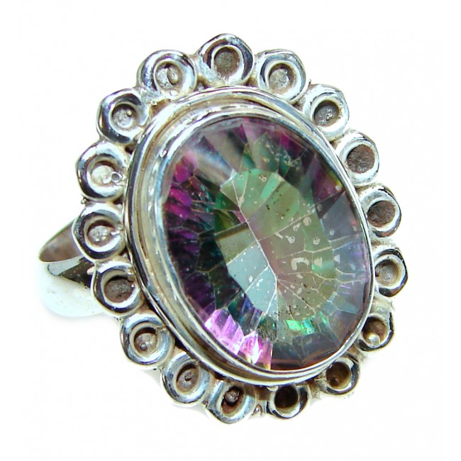 Awesome Natural Magic Topaz .925 Silver Ring size 7