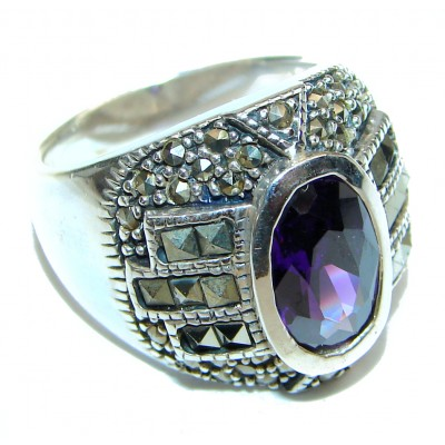 Purple Reef Amethyst .925 Sterling Silver Ring size 7
