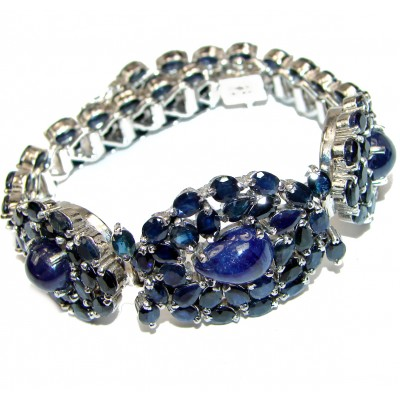 Authentic Sapphire .925 Sterling Silver handcrafted Bracelet