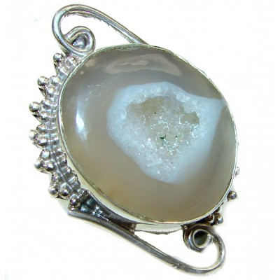 Huge Agate Sterling Silver Ring s. 10