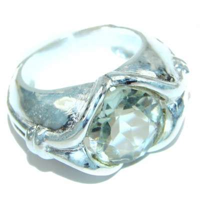 Fancy White Topaz .925 Sterling Silver handmade Ring s. 7