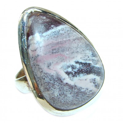 Perfect Tiffany Jasper .925 Sterling Silver handmade Ring s. 7 1/4