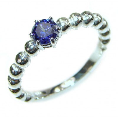 Posh Blue Topaz .925 Sterling Silver handcrafted ring size 9 1/4