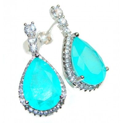 Modus Operandi Paraiba Tourmaline .925 Sterling Silver entirely handmade earrings