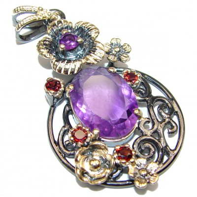 Incredible Amethyst .925 Sterling Silver handmade pendant