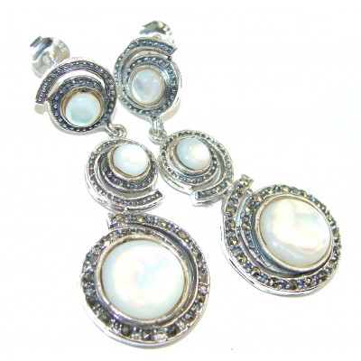 Sublime Beauty Blister Pearl .925 Sterling Silver handcrafted Earrings