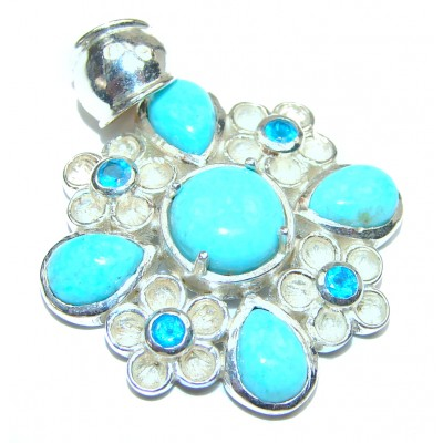 Great quality Turquoise .925 Sterling Silver handmade pendant