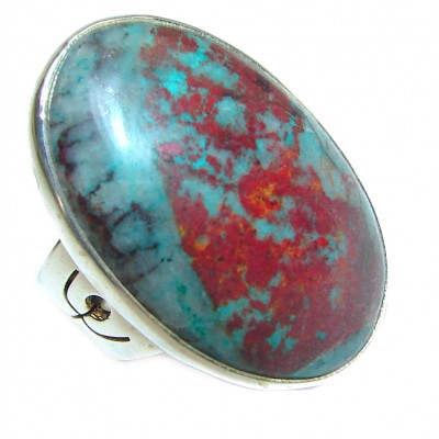 Sonora Jasper .925 Sterling Silver handcrafted Ring size 6 3/4