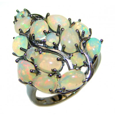 Open Sky authentic Ethiopian Opal .925 Sterling Silver handcrafted ring size 7 1/4
