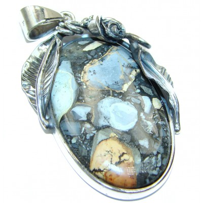 Vinatge Style Excellent quality Maligano Jasper .925 Sterling Silver handmade Pendant