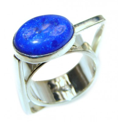 Natural Lapis Lazuli .925 Sterling Silver handcrafted ring size 5