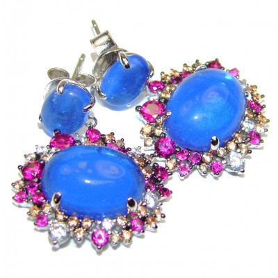 Blue Perfection London Blue Topaz .925 Sterling Silver earrings