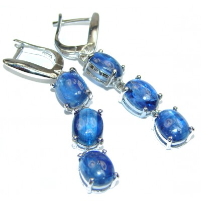 Posh African Kyanite .925 Sterling Silver handcrafted earrings