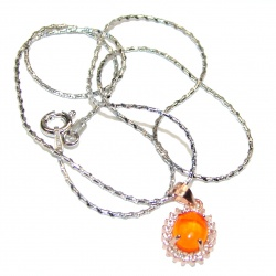 Mexican Opals .925 Sterling Silver brilliantly handcrafted necklace