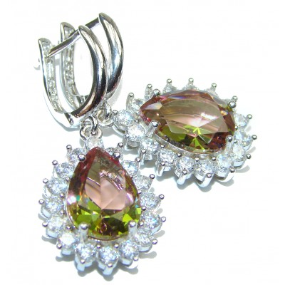 Spectacular Genuine Alexandrite .925 Sterling Silver earrings