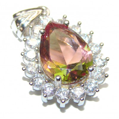 Spectacular COLOR - changing Alexandrite .925 Sterling Silver handcrafted Pendant