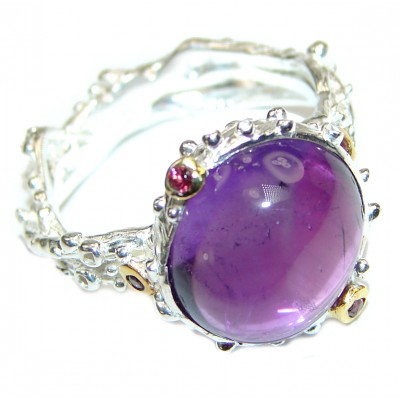 Amazing authentic Amethyst .925 Sterling Silver brilliantly handcrafted ring s. 9 1/2