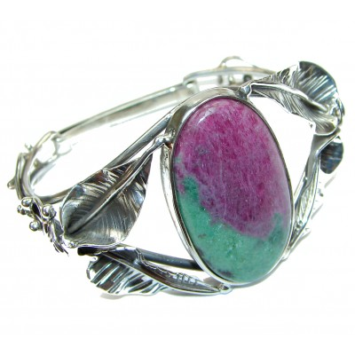 Beauty of Nature Ruby in Zoisite handmade .925 Sterling Silver Bracelet