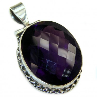 Purple Moon Topaz .925 Sterling Silver handcrafted Pendant
