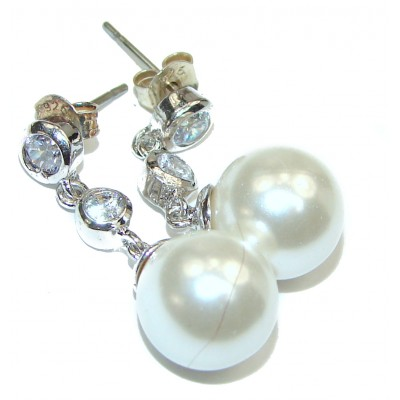Sublime Beauty Pearl .925 Sterling Silver handcrafted Earrings