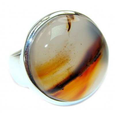 Simplicity Scentic Montana Agate .925 Sterling Silver Ring s. 7 1/4