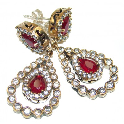 Carmen created Ruby .925 Sterling Silver handmade earrings