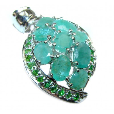 Mia authentic Emerald .925 Sterling Silver handcrafted pendant