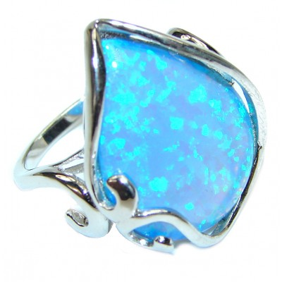 Australian Doublet Opal .925 Sterling Silver handcrafted ring size 9