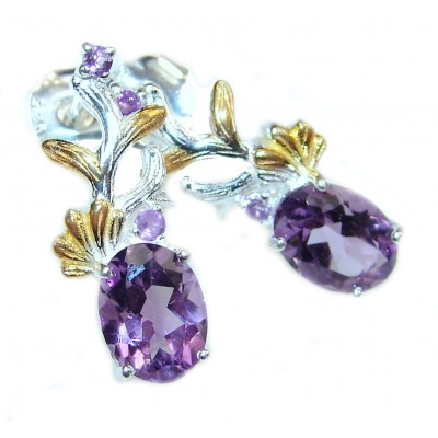 Violet Beauty Authentic Amethyst .925 Sterling Silver handmade earrings