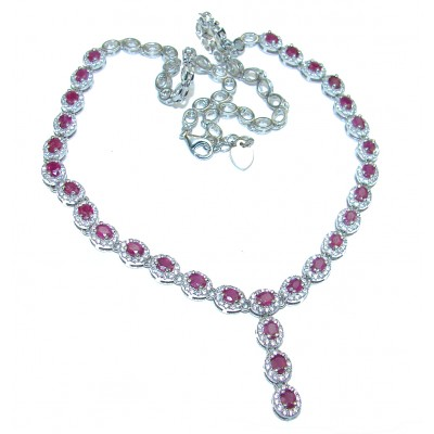 Magnificent Jewel authentic Ruby .925 Sterling Silver handcrafted necklace