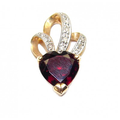 14K Yellow Gold genuine 1.83 carat Garnet Pendant