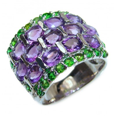 Melissa genuine Amethyst .925 Sterling Silver handcrafted Ring size 6 1/2