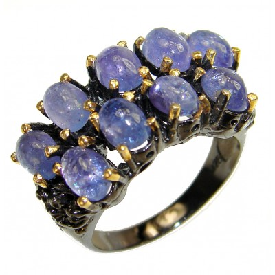 Authentic Tanzanite .925 Sterling Silver handmade Ring s. 8