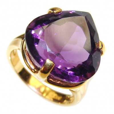 Authentic Oval cut 22ctw Amethyst .925 Sterling Silver brilliantly handcrafted ring s. 5 3/4