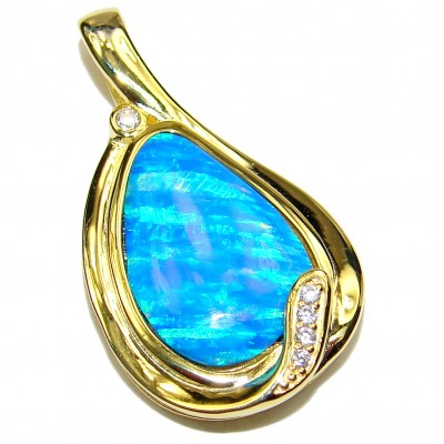 Pure Perfection Doublet Opal 24ct Gold over .925 Sterling Silver handmade Pendant