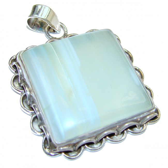Amazing genuine Agate .925 Sterling Silver handmade Pendant