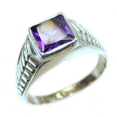 Purple Reef Amethyst .925 Sterling Silver Ring size 11 3/4