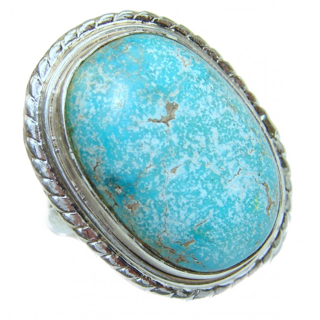Authentic Turquoise .925 Sterling Silver ring; s. 9