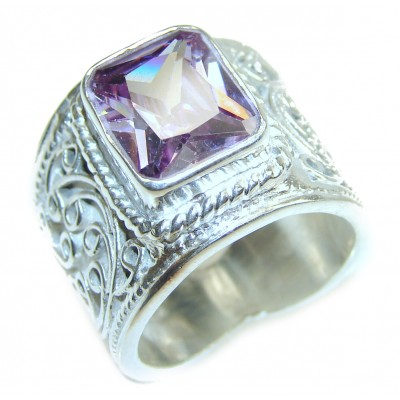 Purple Reef Amethyst .925 Sterling Silver Ring size 7 3/4