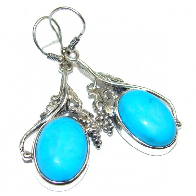 Genuine Sleeping Beauty Turquoise .925 Sterling Silver handcrafted Earrings