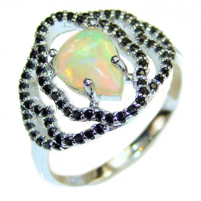 Open Sky authentic Ethiopian Opal Sapphire .925 Sterling Silver handcrafted ring size 9