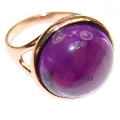 Authentic Oval cut 22ctw Amethyst .925 Sterling Silver brilliantly handcrafted ring s. 7 3/4