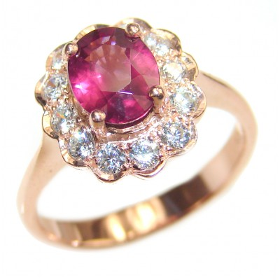 Authentic Ruby rose gold over .925 Sterling Silver handmade Ring s. 5