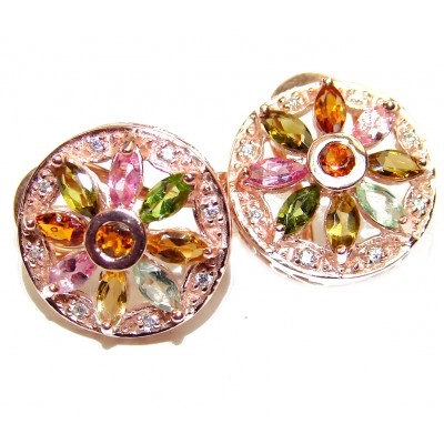 Authentic Multigem .925 Sterling Silver handmade earrings