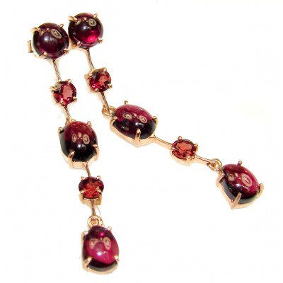 Earth Treasure Juicy Garnet 14K Gold over .925 Sterling Silver handmade earrings