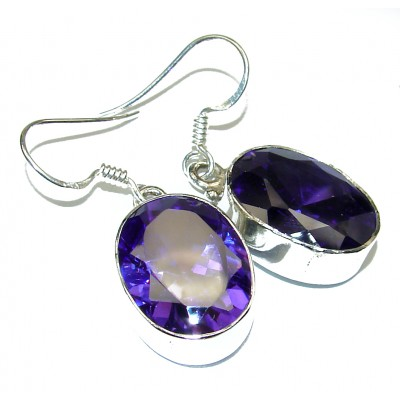 Purple Quartz .925 Sterling Silver earrings