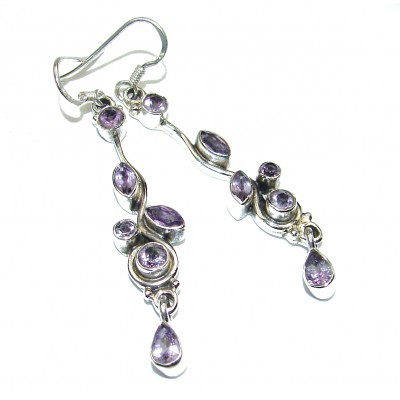 Exclusive Amethyst .925 Sterling Silver Earrings