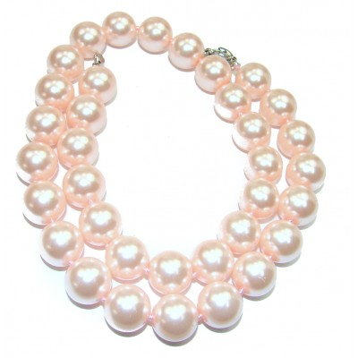 Creamy fresh water lab. Pearl .925 Sterling Silver handmade Necklace