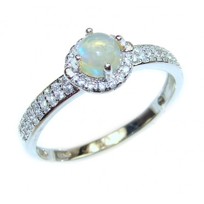 Authentic Ethiopian Opal .925 Sterling Silver handcrafted ring size 9