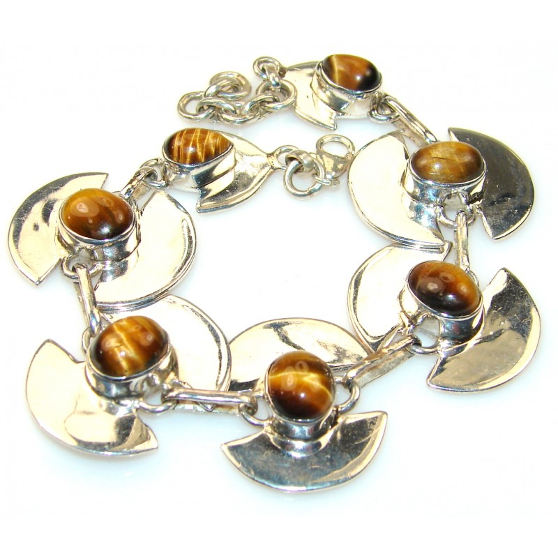Awesome Tigers Eye Sterling Silver Bracelet